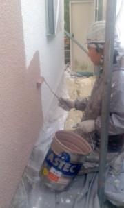 中野様外壁中塗り