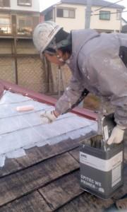 中野様屋根中塗り