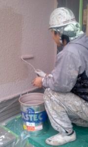 中野様外壁仕上げ塗り