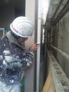 西尾様雨樋塗装