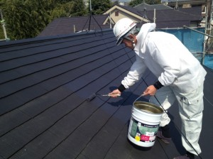 飯野様屋根仕上げ塗り