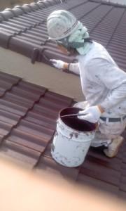 0319屋根仕上げ塗り2回目