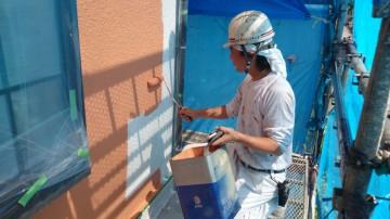 0529外壁中塗り