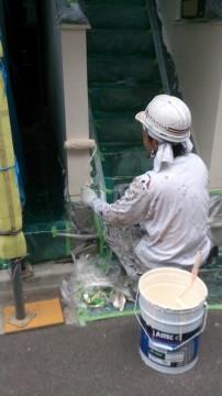 0527外壁仕上塗り
