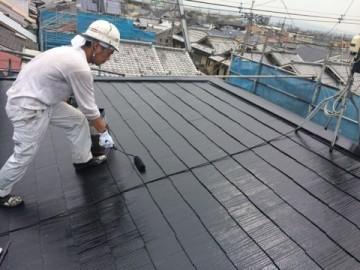 0527屋根仕上げ塗り