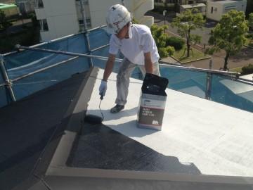 0524屋根中塗り