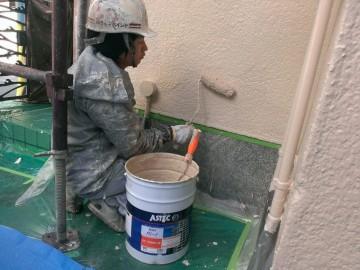 0523外壁仕上げ塗り
