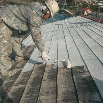 0530屋根下塗り