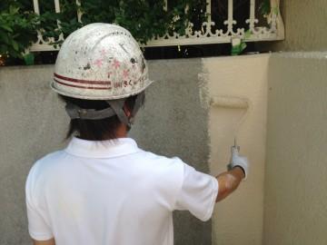 0625外塀中塗り