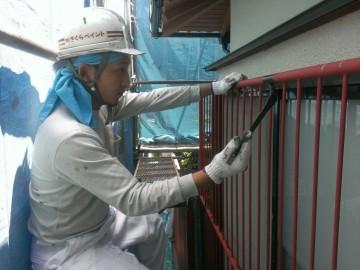 0619鉄格子塗装