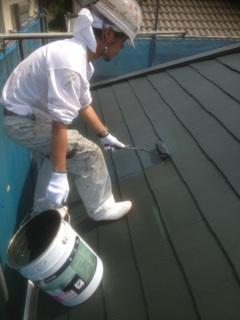 0626屋根仕上げ塗り2回目