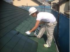 0625屋根仕上げ塗り1回目