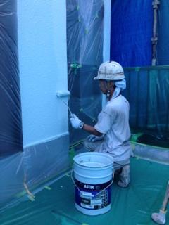 0721外壁中塗り