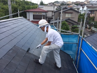 0729屋根中塗り