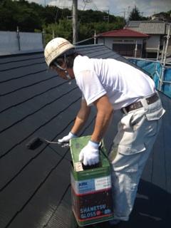 0731屋根上塗り