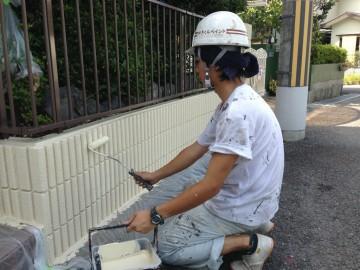 0721外塀仕上げ塗り