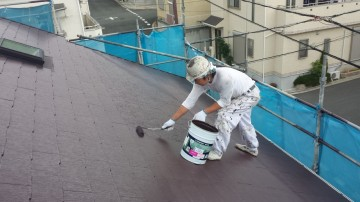 0730屋根仕上げ塗り