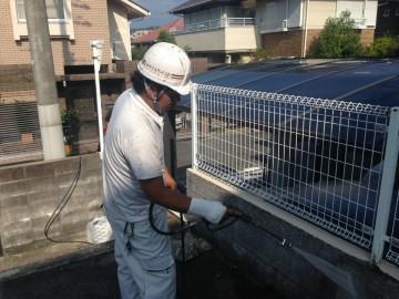 0730外塀高圧洗浄