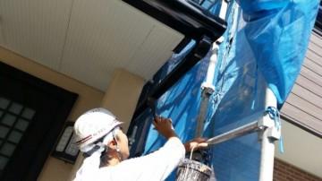 0819雨樋塗装