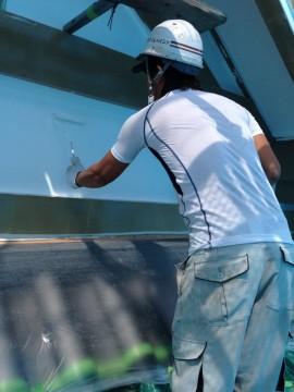 0820外壁仕上げ塗り2回目