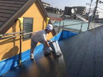 1021屋根仕上げ塗り