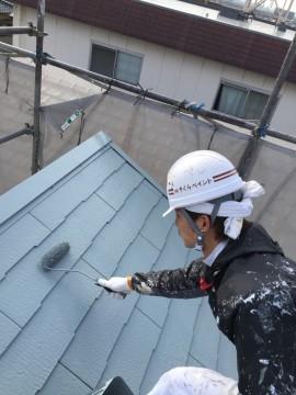 0127屋根仕上げ塗り