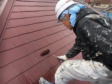 0131大屋根上塗り