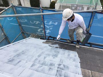 0222屋根下塗り